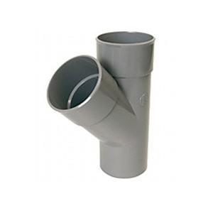 Embranchement PVC Batiment 45° Y male/femelle DN 80/80, l'unité