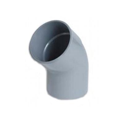 Coude PVC batiment 1/8 male/femelle DN 80, l'unité