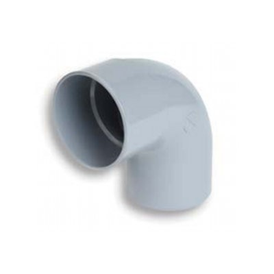 Coude PVC batiment 1/4 male/femelle DN 80, l'unité