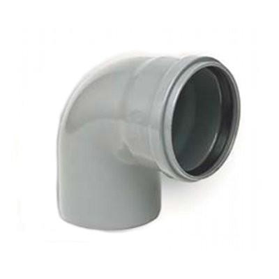 Coude PVC assainissement à joints 1/4 male/femelle DN 110, l'unité
