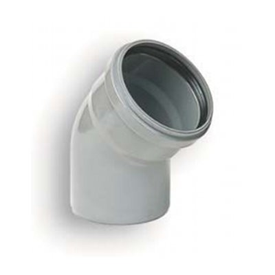 Coude PVC assainissement à joints 1/8 male/femelle DN 110, l'unité