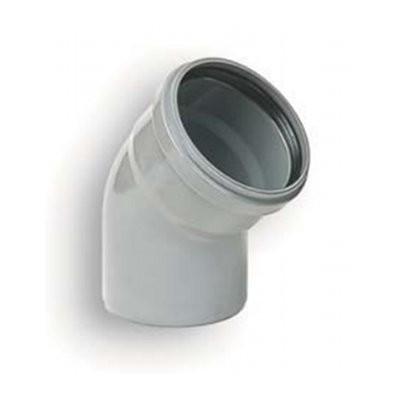 Coude PVC assainissement à joints 1/8 male/femelle DN 160, l'unité
