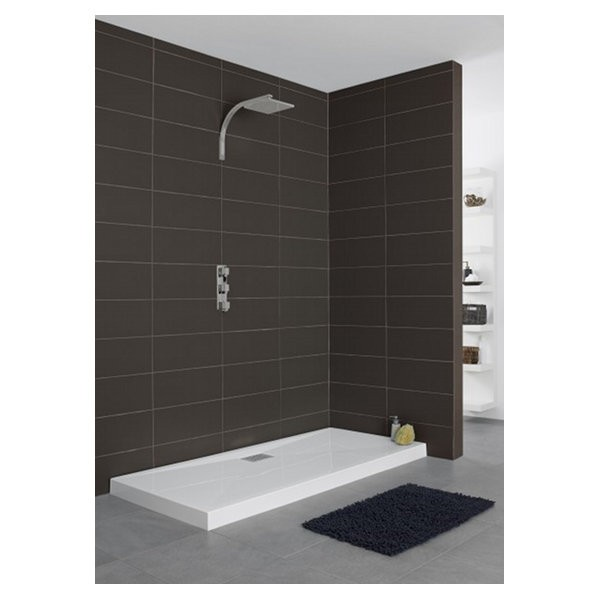 Receveur de douche Kinecompact, rectangle 90 x 70 cm, coloris blanc