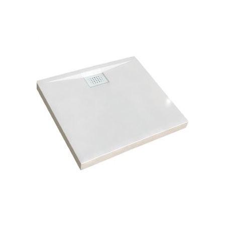 Receveur de douche Kinecompact, carré 80 x 80 cm, coloris blanc