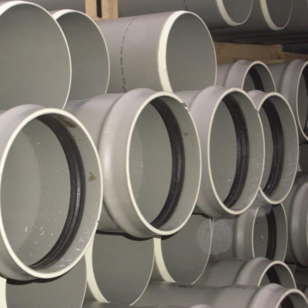 Tuyau PVC assainissement CR8 à joint Diam.200 mm L.3 m