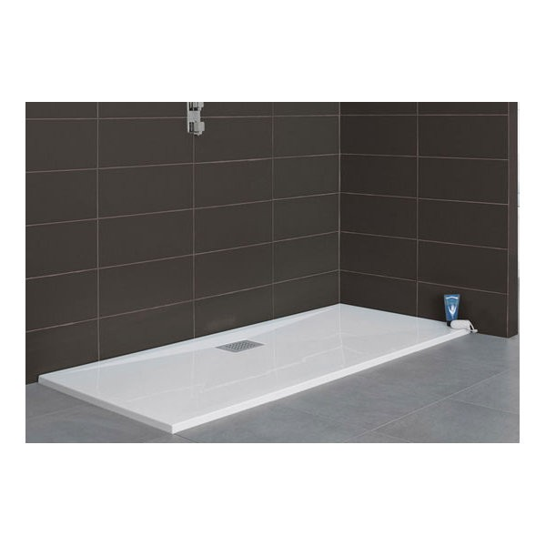 Receveur de douche Kinesurf, rectangle 100 x 70 cm, coloris blanc