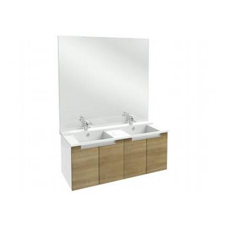 Meuble salle de bain Struktura J.Delafon 120 cm/tiroir Merisier Romana