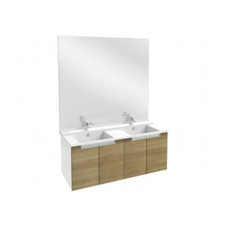 Meuble salle de bain Struktura J.Delafon 120 cm/portes Merisier Romana