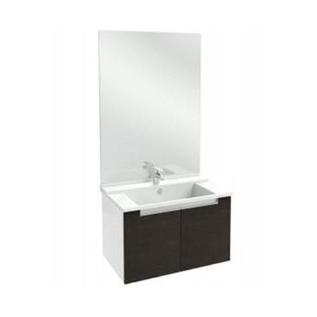 Meuble salle de bain Struktura Jacob Delafon 80 cm/portes Chêne foncé