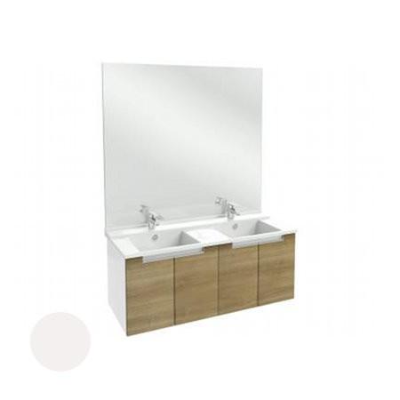 Meuble salle de bain Struktura Jacob Delafon 120 cm/portes, Blanc