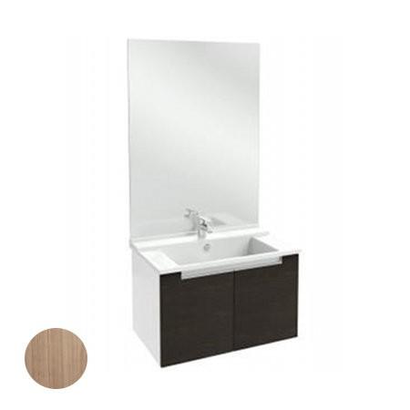 Meuble salle de bain Struktura J.Delafon 80 cm/portes Merisier Romana