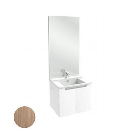 Meuble salle de bain Struktura J.Delafon 60 cm/portes Merisier Romana