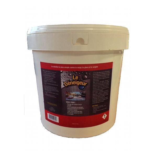 Le déneigeur, sel de déneigement ice melt, seau de 10 kg