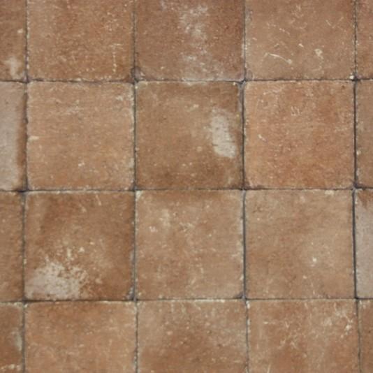 Pavés tambourisés 15 x 15 x 5 cm Tégula couleur Toscane, la palette de 13,5 M2