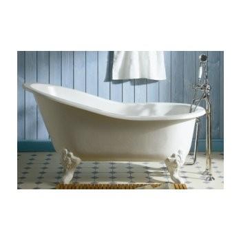 Baignoire sur pied Herbeau Marie Louise en fonte blanche, 155 x 76 cm