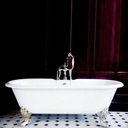 Baignoire sur pied Herbeau Antoinette en fonte blanche, 155 x 78 cm