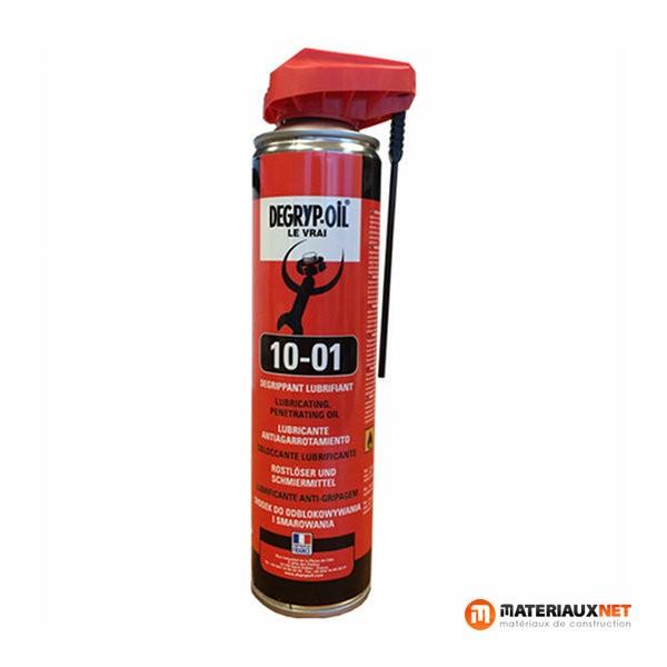Dégrippant lubrifiant Degryp Oil 10-01G, aérosol de 300 ml