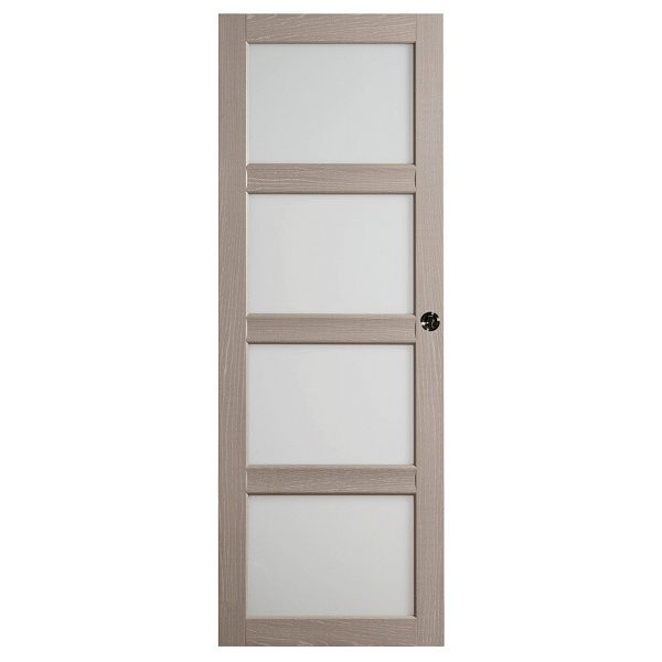 Porte int rieure quartzo ch ne gris crx 204x83 cm for Porte interieure seule