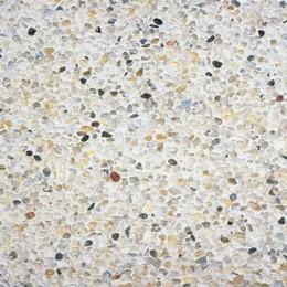 Dalle Stradal gravillon lavé 40 x 40 x 4 cm gros gravillons blancs sur fond blanc ref 120, la palette de 16 M2