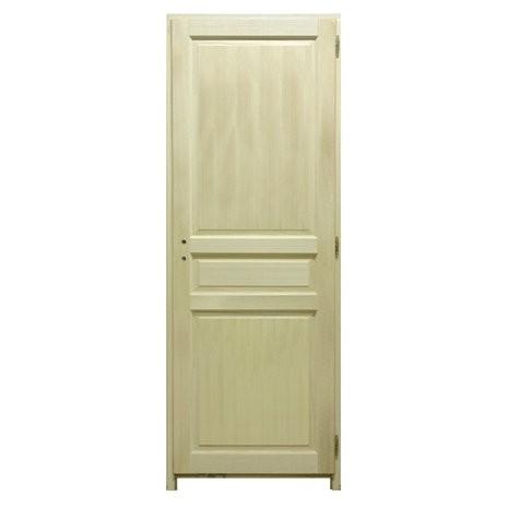 bloc porte bois exo 3 panneaux 204x63cm gauche. Black Bedroom Furniture Sets. Home Design Ideas