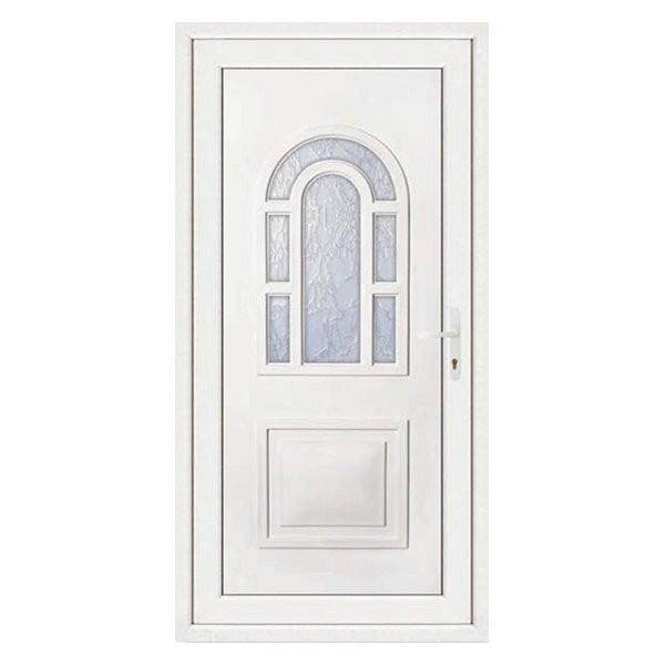 Porte d'entrée pvc LILOU blanche, poussant gauche, 215 x 90 cm