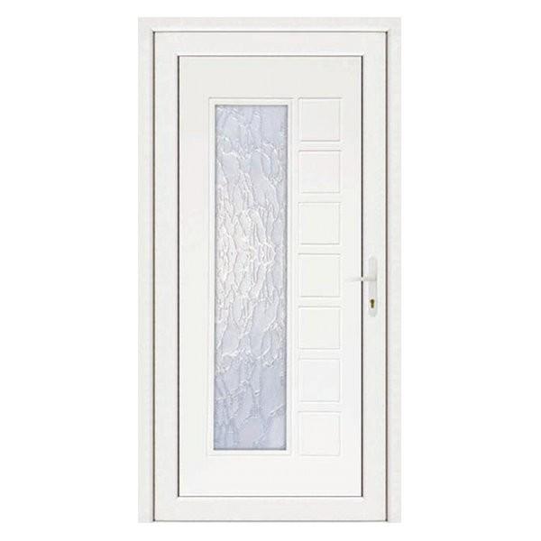Porte d'entrée pvc JULIE blanche, poussant gauche, 215 x 90 cm