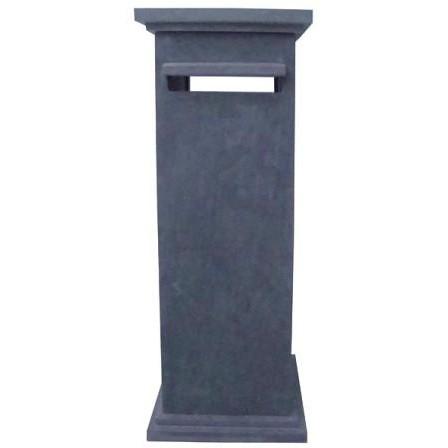 Boite aux lettres en pierre bleue chinoise finition meulée modèle N° 4  dimension 42 x 42 cm hauteur 107 cm, l'unité
