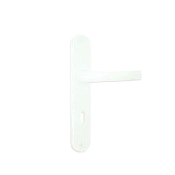 Poignée pour portes fenêtres PVC avec volet intégré, coloris blanc