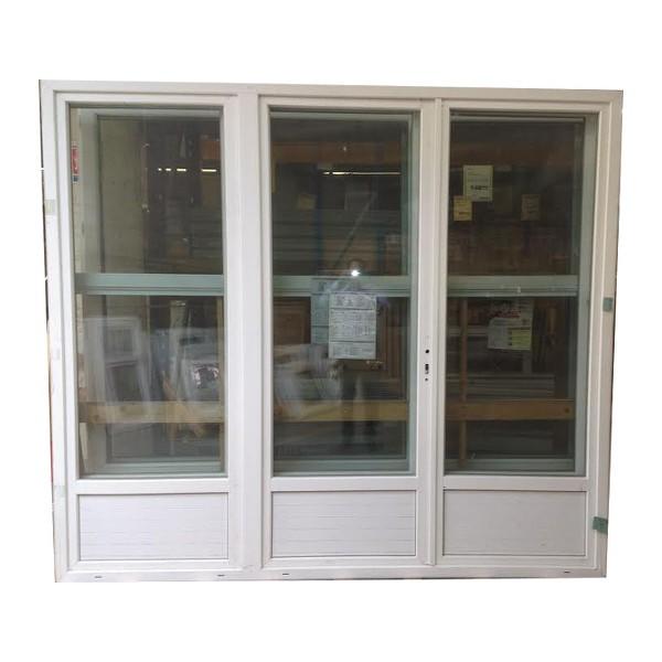 Porte fenêtre 3 vantaux en PVC, 215 x 210