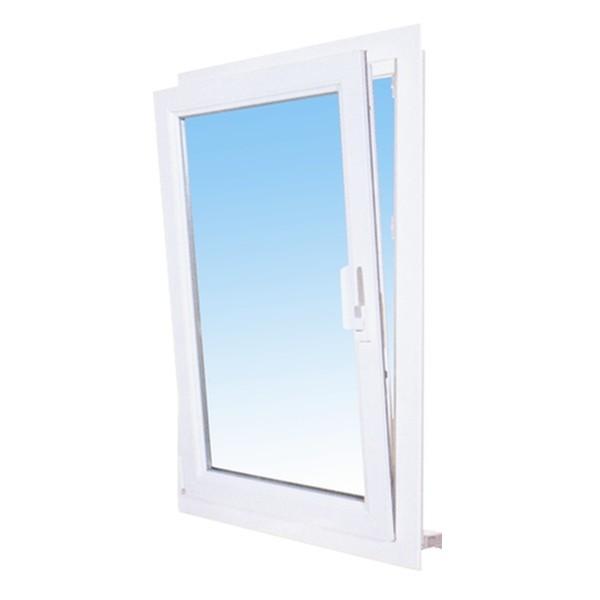 Fenêtre 1 vantail en PVC, oscillo-battant 115 x 80, tirant droit