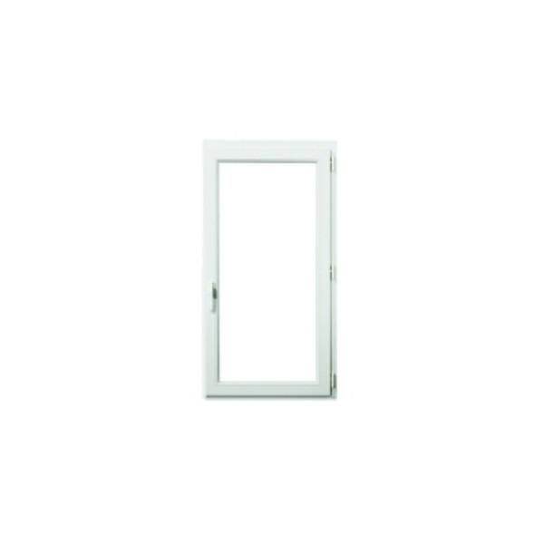 Fenêtre 1 vantail en PVC verre granité, 75 x 60, tirant droit