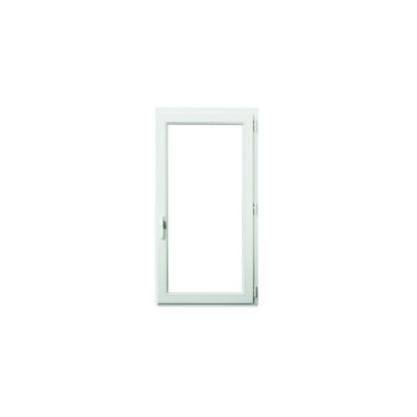 Fenêtre 1 vantail en PVC verre granité, 75 x 60, tirant gauche