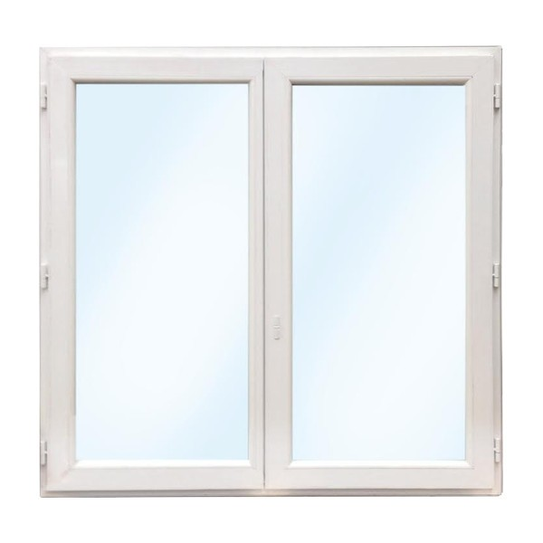 Fenêtre 2 vantaux en PVC 1 oscillo-battant, 95 x 100