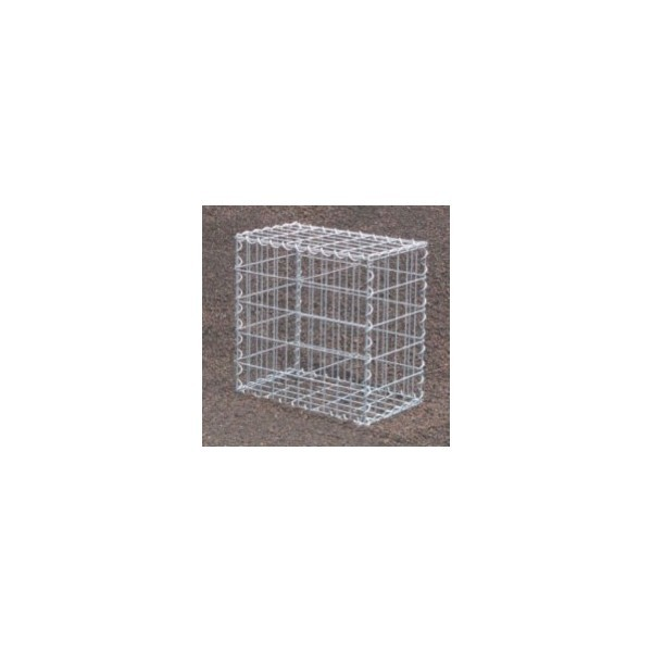 Gabion Rectangulaire 50x40x40 - fil 5 mm - maille 5x20 cm