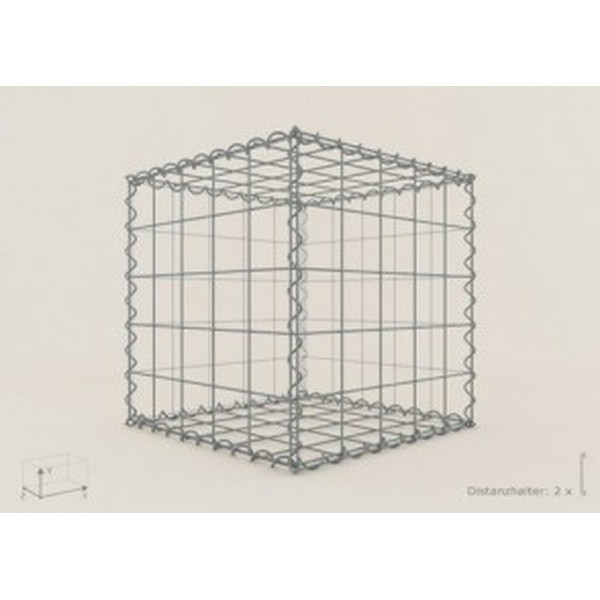 Gabion Cubique 50x50x50 - fil 5 mm - maille 5x10 cm