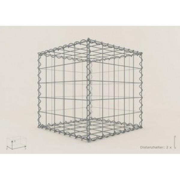 Gabion Cubique 50x50x50 - fil 4 mm - maille 5x5 cm