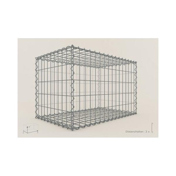 Gabion Rectangulaire 80x50x50 - fil 4 mm - maille 10x10 cm