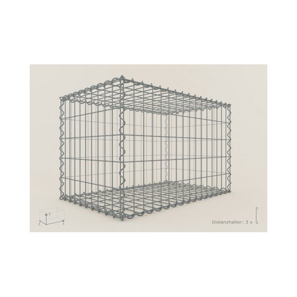Gabion Rectangulaire 80x50x50 - fil 4 mm - maille 5x5 cm