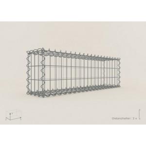 Gabion Rectangulaire 100x20x20 - fil 4 mm - maille 5x10 cm