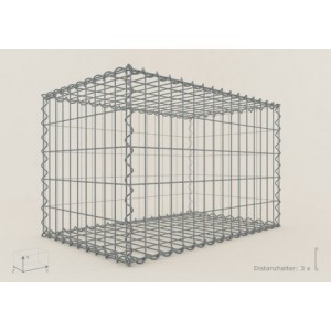 Gabion Rectangulaire 100x30x30 - fil 4 mm - maille 5x10 cm