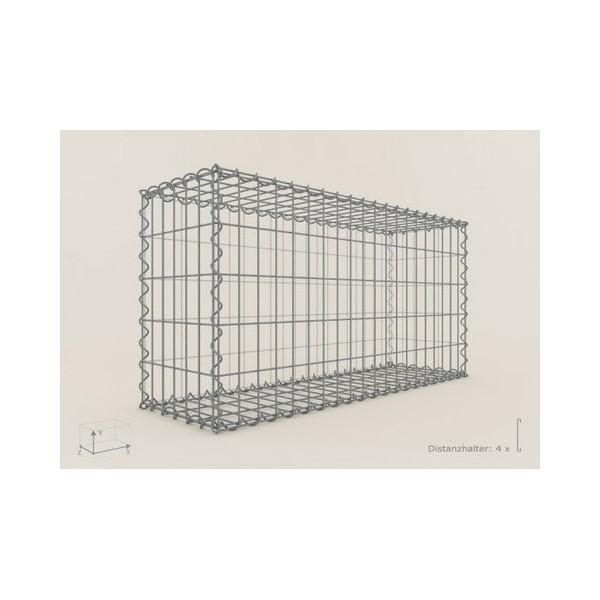 Gabion Rectangulaire 100x50x30 - fil 4 mm - maille 5x5 cm