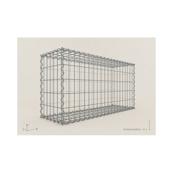Gabion Rectangulaire 100x50x40 - fil 4 mm - maille 5x10 cm
