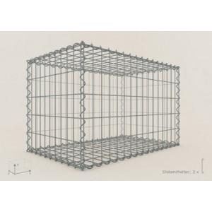 Gabion rectangle 200x50x50 - fil 4,5 mm - maille 5x10 et 10x10 cm