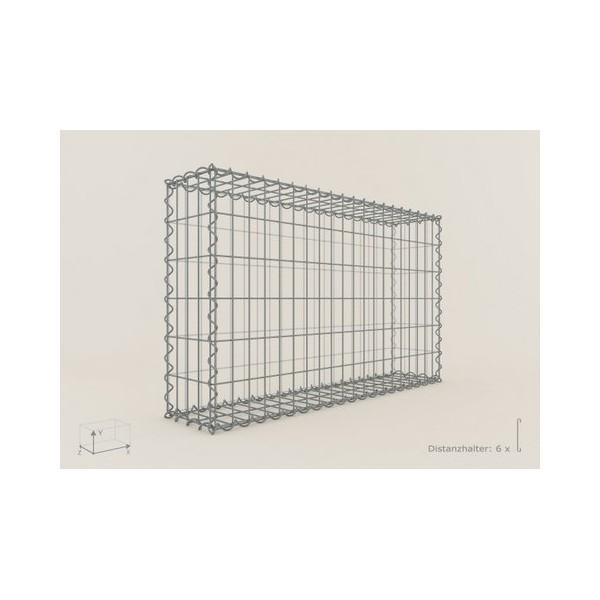 Gabion Rectangulaire 100x60x20 - fil 4 mm - maille 5x5 cm