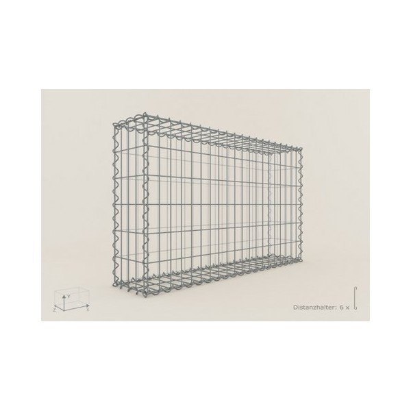 Gabion Rectangulaire 100x60x20 - fil 5 mm - maille 5x20 cm