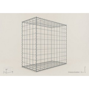 Gabion Rectangulaire 100x80x50 - fil 4 mm - maille 5x10 cm