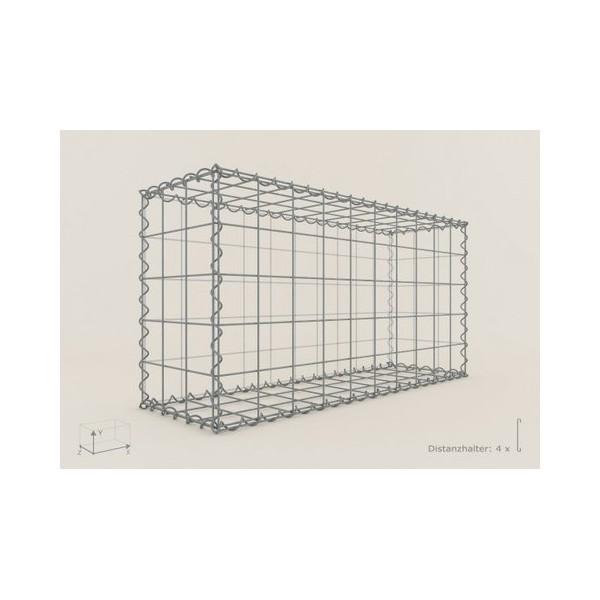 Gabion Cubique 100x100x30 - fil 4 mm - maille 5x10 cm