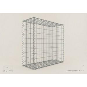 Gabion Cubique 100x100x40 - fil 4 mm - maille 10x10 cm
