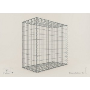 Gabion rectangle 200x100x50 - fil 4,5 mm - maille 5x10 et 10x10 cm