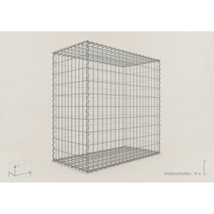 Gabion Cubique 100x100x50 - fil 4,5 mm - maille 5x10 cm et 10x10 cm